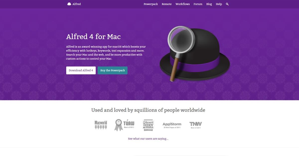 10 Công cụ hỗ trợ Lập trình viên: Alfred