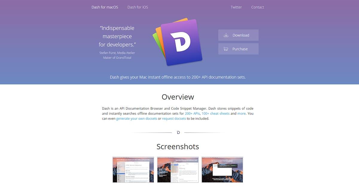 10 Công cụ hỗ trợ Lập trình viên: Dash