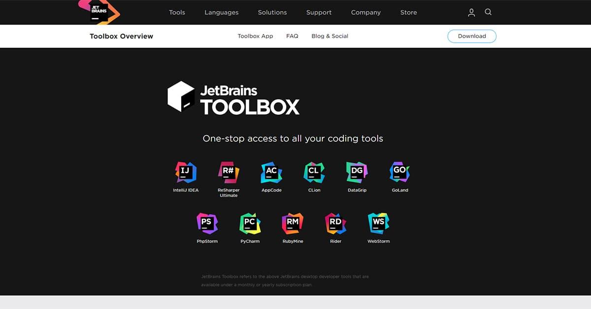 10 Công cụ hỗ trợ Lập trình viên: JetBrains Toolbox