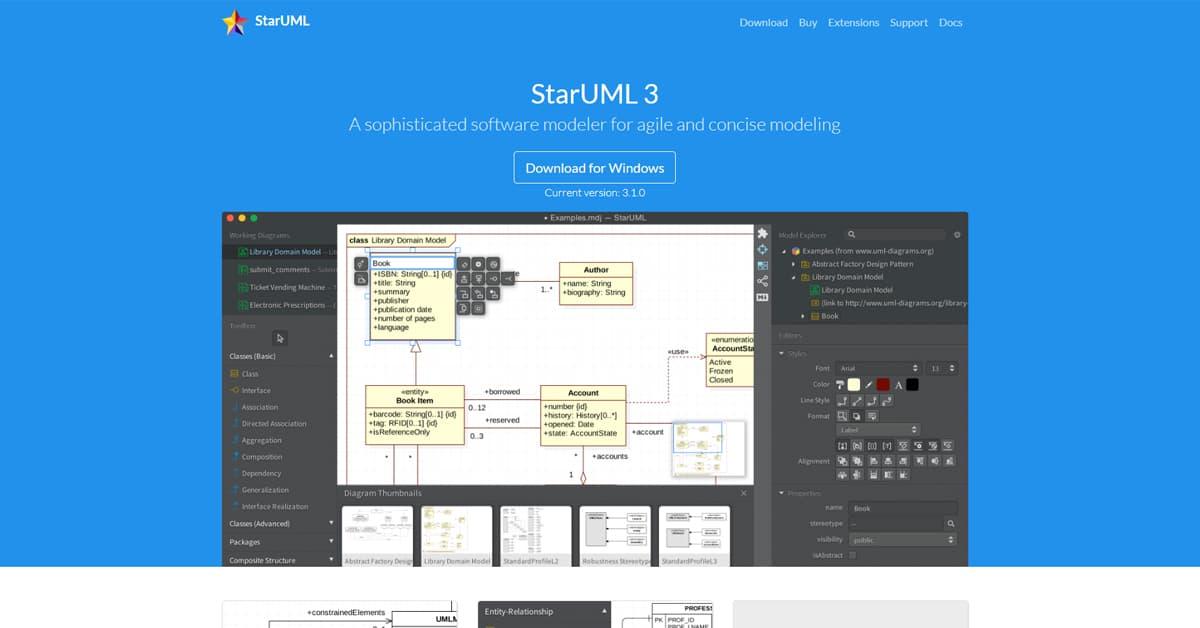10 Công cụ hỗ trợ Lập trình viên: StarUML3