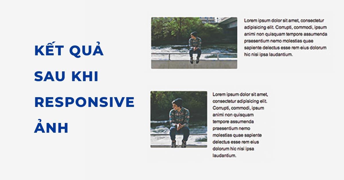 Kết quả sau khi tạo Responsive ảnh bằng thẻ picture trong HTML5