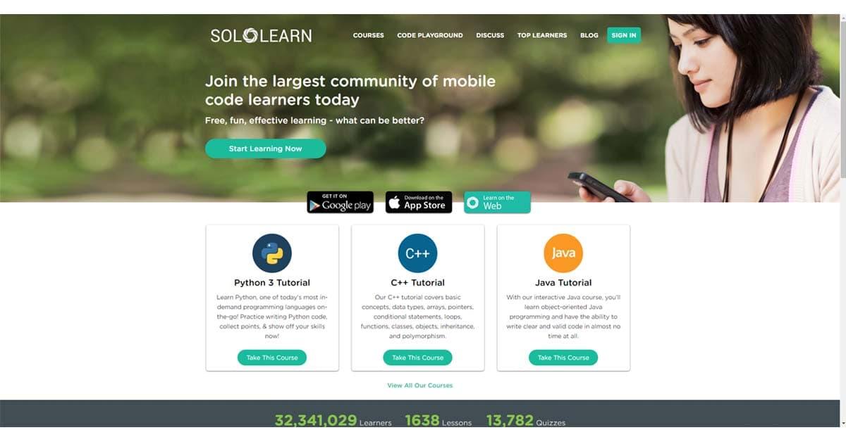Trang web dạy học Lập trình tốt nhất, miễn phí: Sololearn
